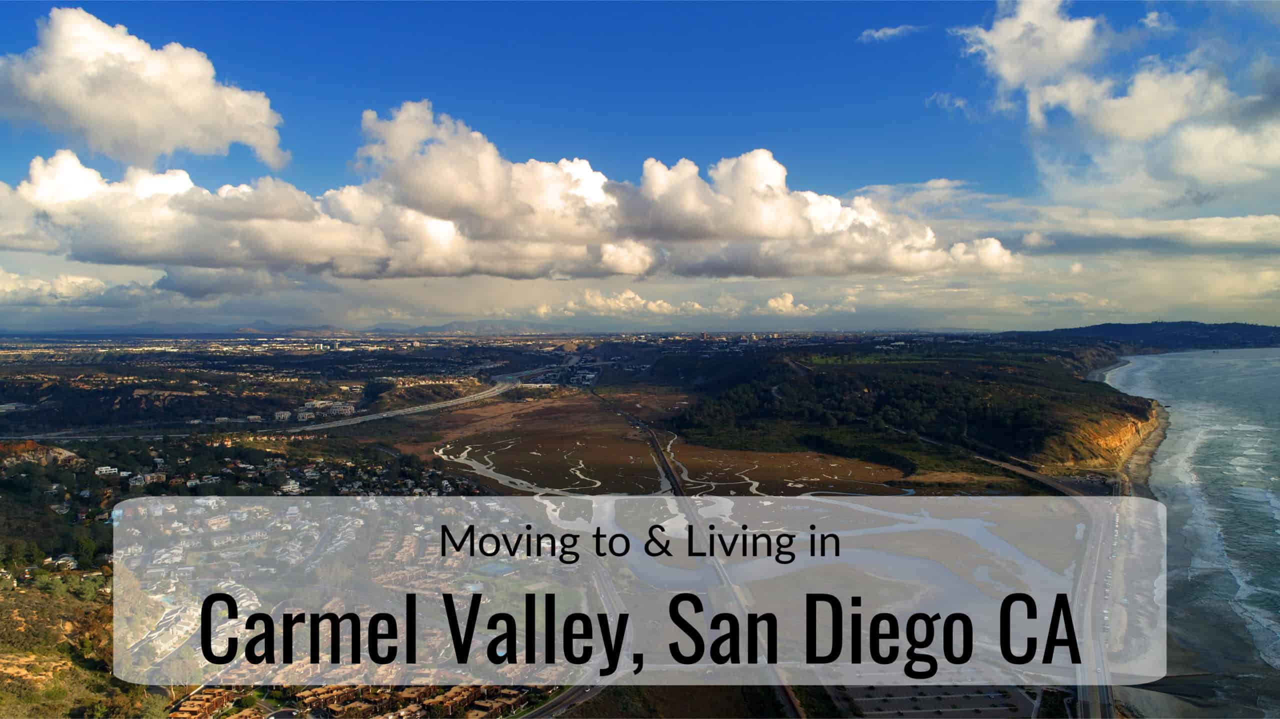 Arial view of Carmel Valley, San Diego